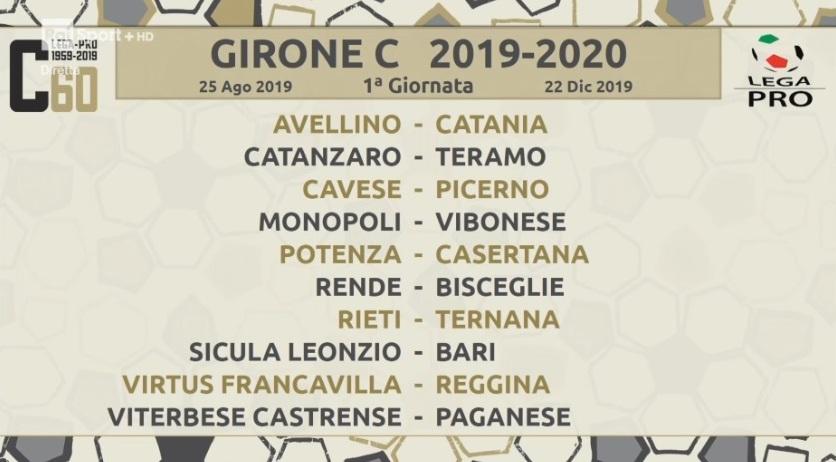 Calendario Lega Pro Girone C 2020.Calendario Girone C Per La Ternana Prima Giornata In