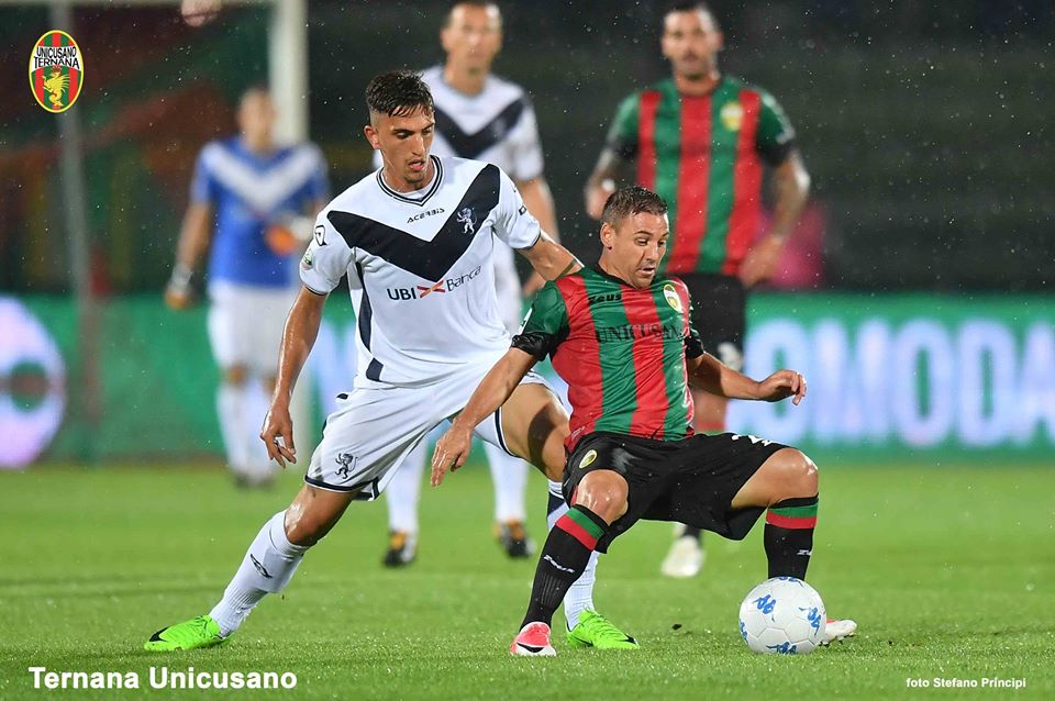Serie B, Ternana-Brescia 1-1: in gol Bisoli e Montalto